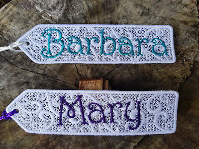 Personalised Bookmarks - Free Standing Lace