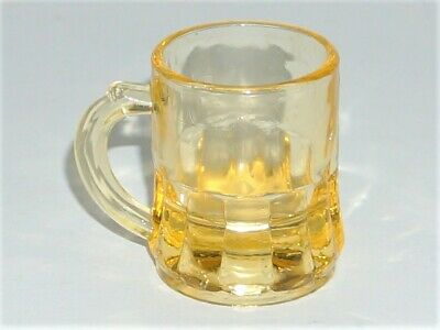Federal Gem Tone Rumpus 1-Oz Shot Glass/Toothpick Holder/Mini Beer Mug - Yellow