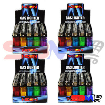 200 NEON Classic Full Size Cigarette Lighter Disposable Lighters Wholesale