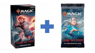 1X MTG - Coreset 2020 Prerelease Kit + 2020 BOOSTER PACK!!! - NEW / SEALED