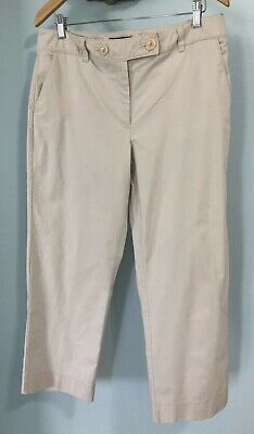 Talbots Womens Capri Pants Size 12 Beige Neutral Stretch Dressy Cropped Work