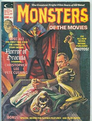 MONSTERS OF THE MOVIES #7 (JUNE 1976) Marvel Horror Film Mag / CHRISTOPHER LEE