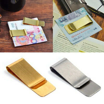 Wholesale Stainless Steel Silver Money Clip Wallet Credit Card ID Cash Holder GW