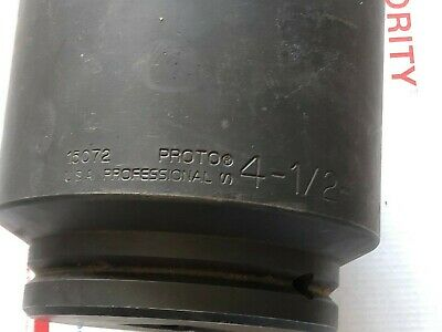"Proto 15072 1-1/2"" Square Drive 6-Point 4-1/2"" Impact Socket Made in USA , NEW"