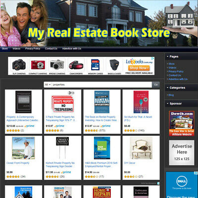 REAL ESTATE BOOK STORE - Professional Designed Online Business Website For Sale!