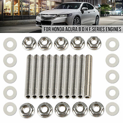 StreetRays Honda Acura Header Exhaust Stud Delete Bolt Kit B D H F Black Alloy