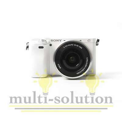 Véritable Sony Alpha A6000 Mirrorless Digital Camera with 16-50mm Lens (White)