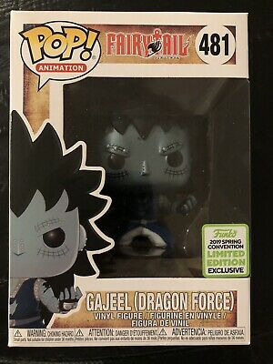 Funko Pop! Animation Fairy Tail Gajeel Dragon Force 2019 ECCC Exclusive NOT MINT