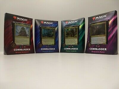 Magic Commander 2019 All 4 Decks Bundle Box