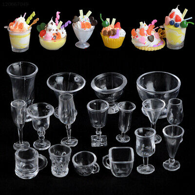 6784 Creative Dollhouse Miniature Cups 17pcs/Set Mini Wine Cups Plastic