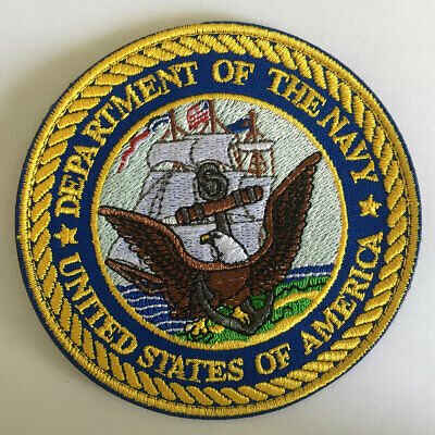 Department of the Navy DoN Military Army Tactical Morale Emblem Seal Badge Patch