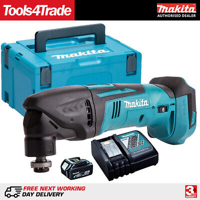 Makita DTM50Z 18V LXT Multi Tool Cutter with 1 x 5.0Ah Battery & Charger in Case