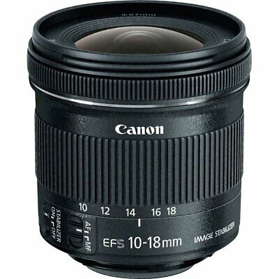 Brand New Genuine Canon EF-S 10-18mm f/4.5-5.6 IS STM  Black Lens ES*3