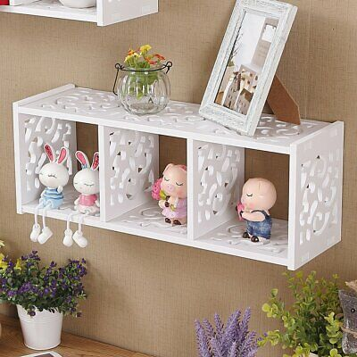 3 Cubes WPC Wooden Wall Cube Floating Shelf Display Storage Unit Cubes Shelve