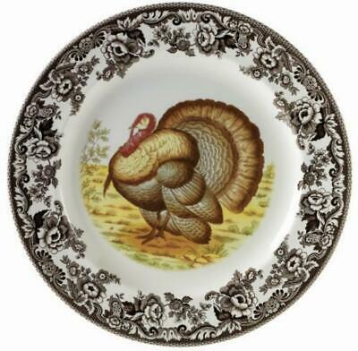 Woodland Turkey Dinner Plate Plump American Holiday Dining Plates Fall Winter US