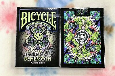 1 DECK Bicycle Stained Glass Behemoth Playing Cards-S103049686-甲G4
