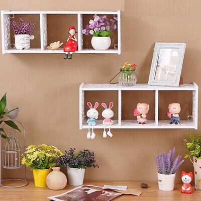Cube WPC Wooden Wall Floating Cube Shelf Display Storage Unit Cubes Shelve