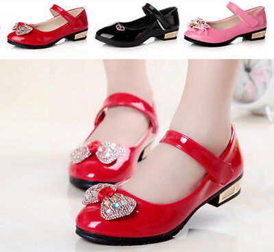 Kids Girls Fashion Princess Shoes Children School Party Dance Baby Wedding Shoes