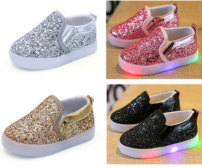 2019 Infant Kids Fashion Shoes Baby Boy Girl Casual LED Lights Toddler Shoes