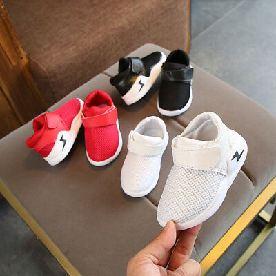2019 Breathable Kids Sport Shoes Boys Girls Children Infant Baby Casual Shoes