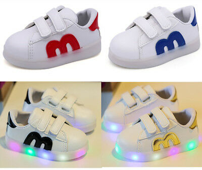 2019 Fashion Infant Baby Shoes Lights Kids Boy Sneakers Girl Sport Shoes Casual