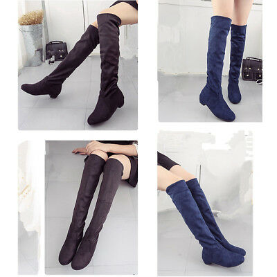 2019  Women Fashion Boots Girls Over the knee Boots Slim Youth Shoes Knee High