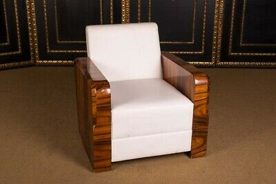 French Berger Chair in Art Deco Style Rosewood Veneer