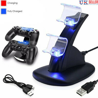 PS4 Playstation4 Cradle Docking Station USB Dual Controller Charger LED UK