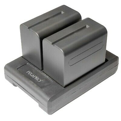 V-lock Battery Plate Adapter with Sony NP-F Series Batteries x2 NP-F970