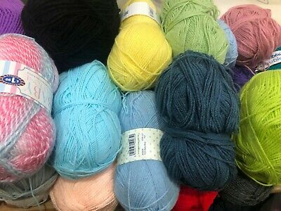 Mixed Yarn Wool Bundle 500g - stock clearance - odd balls - different colours