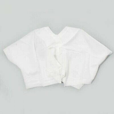 ISSEY MIYAKE Cape Style Short Length Pullover Blouse 3 White Free Shipping Japan