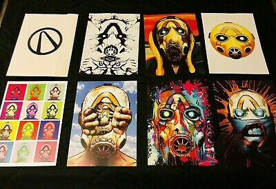 PAX WEST EAST 2019 EXCLUSIVE Borderlands FAN Psycho Art Posters Prints Set RARE