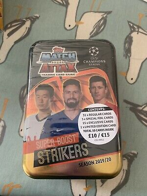 Topps Match Attax Champions League season 2019 20 superboost strikers mega tin