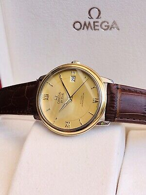 Omega DeVille Prestige 18K Gold Mens dress watch Co-Axial Full Set Automatic