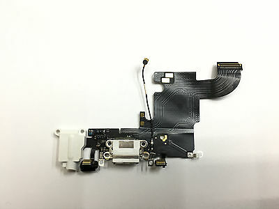 Genuine Iphone 6S Replacement Charging Block And Headphone Jack Flex - White
