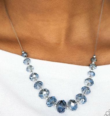 Paparazzi Necklace - Crystal Carriages - Blue