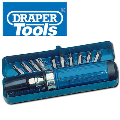 Draper Impact Screwdriver Set 12 Piece Forward Reverse Rotation With Steel Case