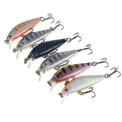 3D Eyes Floating Minnow Fishing Lure Laser Luminous Hard Artificial Bait BH