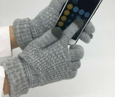 Winter Thickened Knitted Gloves For Ladies Micro-Fiber Spandex Hand Wear Mittens