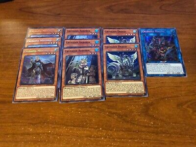 9 Card Crusadia Deck Core Maximus Magius Arboria Draco MP19-EN081 MP19-EN105