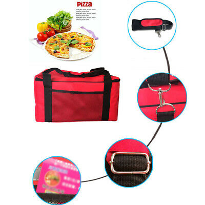 UK Insulated Pizza Food Delivery Picnic Camping Lunch Handbag Portable Carry Bag