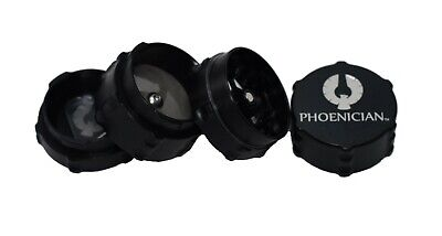 "Small 1.73"" Black 4-Piece Phoenician Grinder with Free Bumpers"