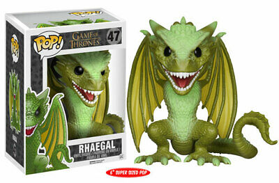 "Funko Pop! Game of Thrones 47 Rhaegal  6"" Inch Dragon Vinyl Action Figure FU4851"