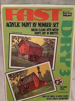 Craft House Fast Dry 3 Acrylic Paint By Number #326 The Old Barns - NEW