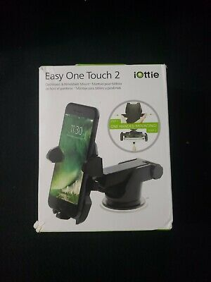 iOttie HLCRIO121 Easy One Touch 2 Universal Car Mount – Black, New/open Box