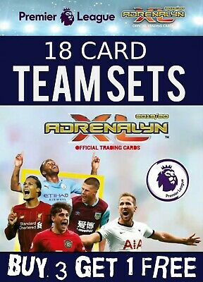Panini Adrenalyn Xl Premier League 2019/20 Full 18 Card Team Sets Base 19/20