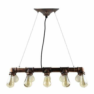 Winsoon Vintage Look Industrial Steampunk Bronze Iron Pipe Ceiling Light Fixture