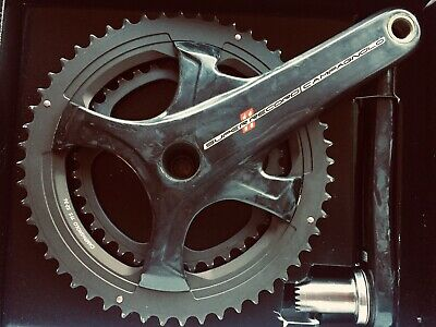 New 2018 Campagnolo Potenza 11 Speed Black 36//52 175mm Crankset Mid-Compact
