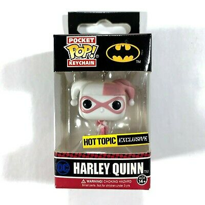 Pop Pocket Keychain Harley Quinn Pink Hot Topic Exclusive