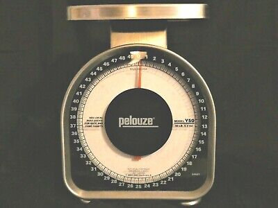 Pelouze Heavy-Duty Mechanical Package Shipping Scale 50 Pound Weight Y50